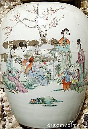 Ancient vases close-up