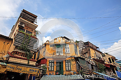 Ancient village buildings in Hanoi Editorial Stock Image