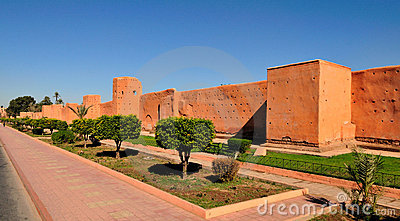 Ancient wall of Marrakech