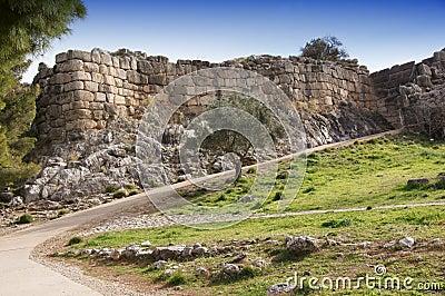 Ancient walls of Mycenae city
