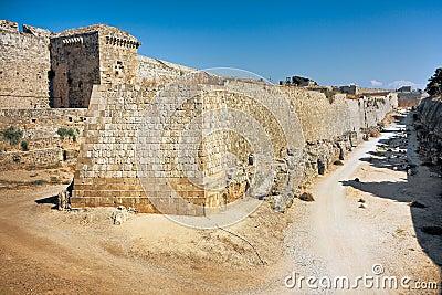 Ancient walls -  Rhodes Island Castle