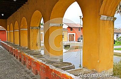 Ancient washbasins. Antigua, Guatemala