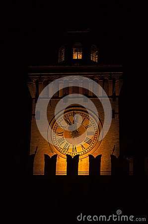 Free Ancient Watch Tower In The Night Royalty Free Stock Photo - 25348005