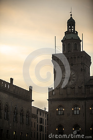 Ancient watch tower in the night Editorial Photography