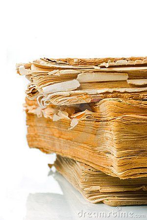 Ancient weathered paper book