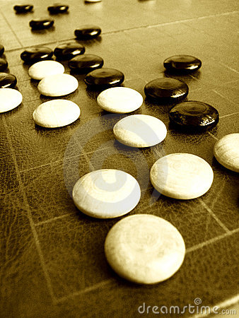 Ancient Weiqi or Go game