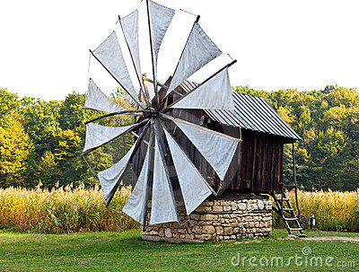 Ancient windmill replica