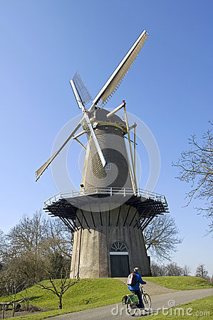 Free Ancient Windmill The Prince Of Orange And Biker, Buren Stock Photos - 65896773
