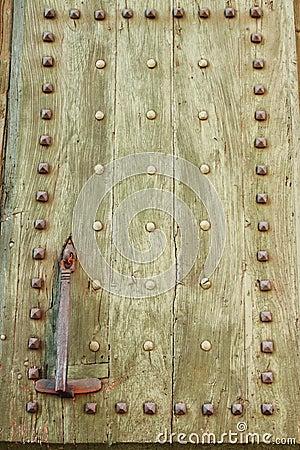 Ancient wood front door