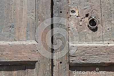 Ancient wooden door fragment