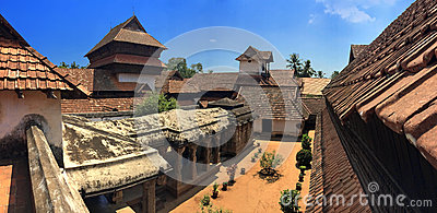 Ancient wooden palace Padmanabhapuram of the maharaja in Trivandrum
