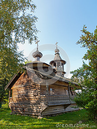 Ancient wooden Russian church.