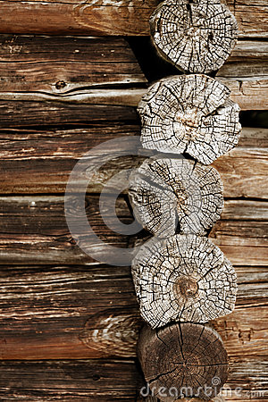 Free Ancient Wooden Wall - Logs Close Up Stock Photos - 31113763