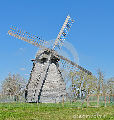 Ancient wooden windmill