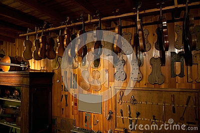 Ancient workshop of a luthier