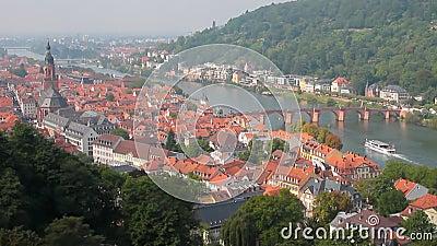 ancientness Χαϋδελβέργη, γη baden-WÃ ¼ rttemberg, Γερμανία απόθεμα βίντεο
