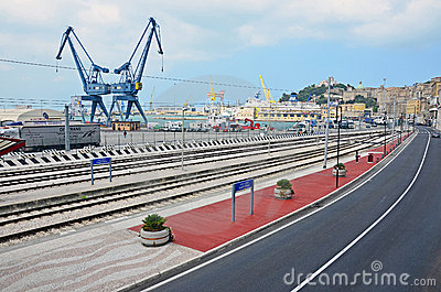 Ancona harbor cranes Editorial Photography