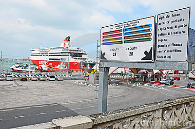 Ancona harbor day Editorial Stock Image