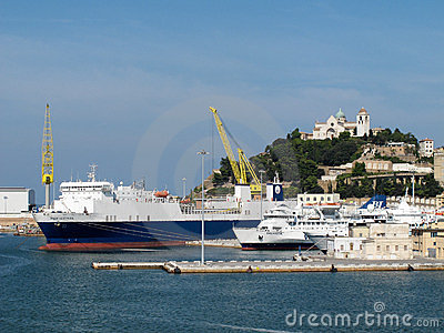 Ancona port in Italy Editorial Image