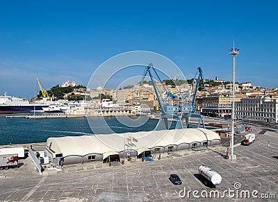 Ancona port in Italy Editorial Stock Photo