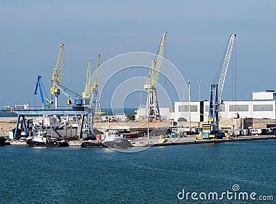 Ancona port in Italy Editorial Photo