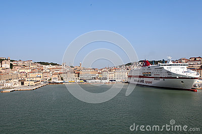 Ancona port in Italy Editorial Photo