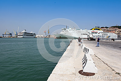 Ancona port in Italy Editorial Stock Image