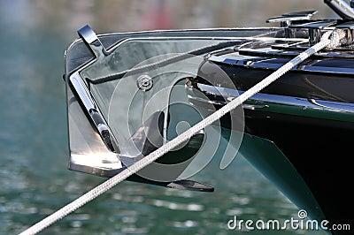 Ancoraggio dell yacht