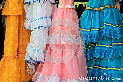 Andalusian aciganado Spain do vestido do plissado dos trajes