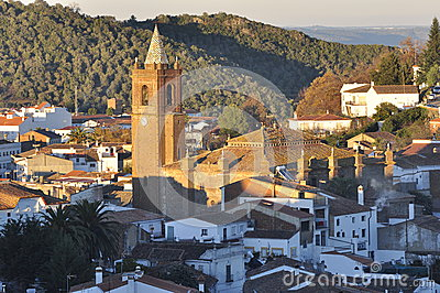 Andalusian church village.