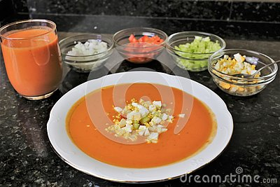 Andalusian gazpacho Andalusian and Spanish cuisine