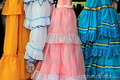 Andalusian zingaresco Spagna del vestito dall increspatura dei costumi