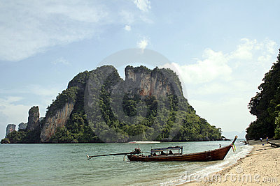 Andaman islands longtail beach thailand