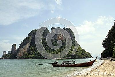 Andaman sea islands longtail beach krabi thailand
