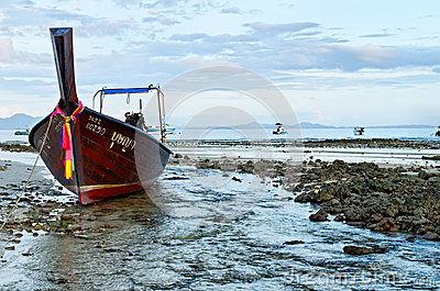 Andaman sea at low tide Editorial Stock Photo