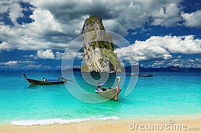 Andaman strandhav tropiska thailand