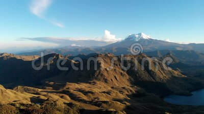 Andean landscape. Where rocks, cultivated fields, moors and contrasts of light stand out stock video