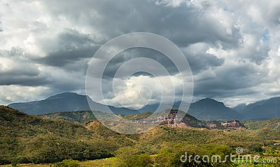 Andes mountains in Peru Stock Photo