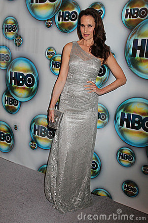 Andie MacDowell at the HBO 2012 Golden Globe Awards Post Party, Beverly Hilton Hotel, Beverly Hills, CA 01-15-12 Editorial Image