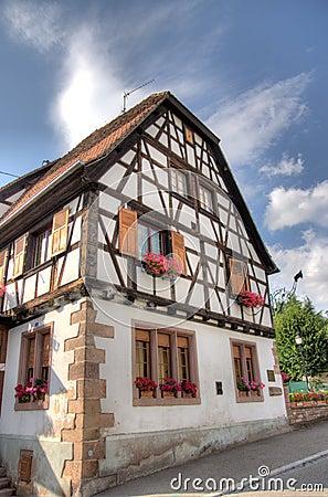 Andlau village in Alsace