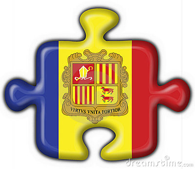 Andorra button flag puzzle shape
