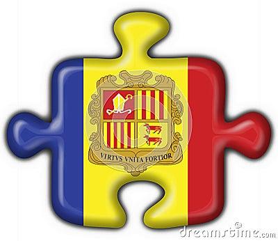Andorra button flag puzzle shape