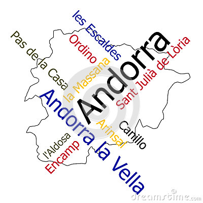 Andorra map and cities