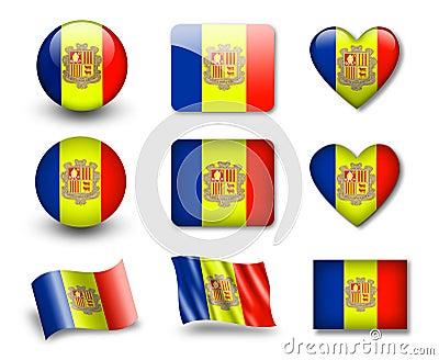The Andorran flag