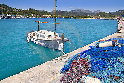 Andratx port marina in Mallorca balearic islands