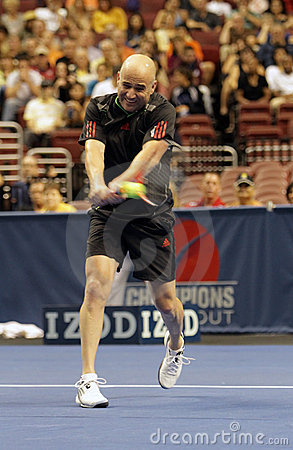 Andre Agassi  - Tennis legends on the court 2011 Editorial Image