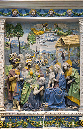 Andrea della Robbia — Adoration of the Magi