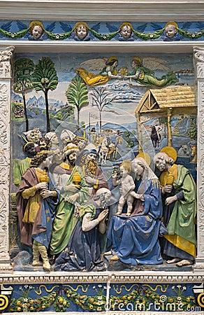 Andrea della Robbia — Adoration of the Magi