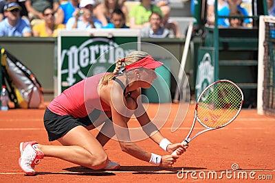 Andrea Hlavackova - French open 2012 Editorial Stock Image