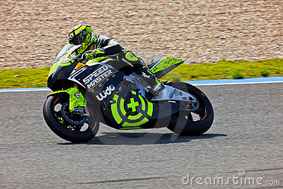 Andrea Iannone pilot of motorcycling of Moto2 Editorial Photography